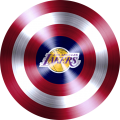 captain american shield with los angeles lakers logo iron on transfer