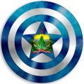 CAPTAIN AMERICA Vermont State Flag decal sticker