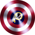 captain american shield with washington redskins logo iron on transfer