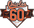 Baltimore Orioles 2014 Anniversary Logo decal sticker