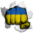hulk UKRAINE Flag decal sticker