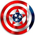 CAPTAIN AMERICA Tennessee State Flag decal sticker