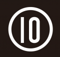 Number 10 iron on sticker