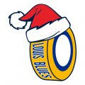 st.louis blues Hockey. louis blues Hockey ball Christmas hat iron on transfer