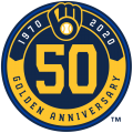 Milwaukee Brewers 2020 Anniversary Logo iron on transfer