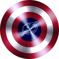 captain american shield with tampa bay lightning logo iron on transfer