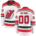 New Jersey Devils Custom Letter and Number Kits for White Alternate Jersey