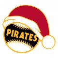 Pittsburgh Pirates Baseball Christmas hat decal sticker