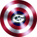 captain american shield with green bay packers logo iron on transfer