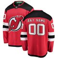 New Jersey Devils Custom Letter and Number Kits for Red home Jersey