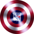 captain american shield with new york rangers logo iron on transfer