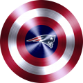 captain american shield with new england patriots logo iron on transfer