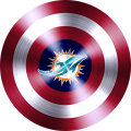 captain american shield with miami dolphins logo iron on transfer