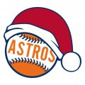 Houston Astros Baseball Christmas hat decal sticker