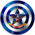 CAPTAIN AMERICA North Dakota State Flag decal sticker