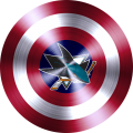 captain american shield with san jose sharks logo iron on transfer
