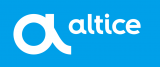 Altice white logo iron on sticker