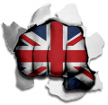 hulk UNITED KINGDOM Flags decal sticker