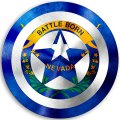 CAPTAIN AMERICA Nevada State Flag decal sticker