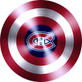 captain american shield with montreal canadiens logo iron on transfer