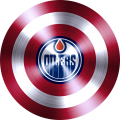 captain american shield with edmonton oilers logo iron on transfer