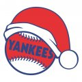 New York Yankees Baseball Christmas hat decal sticker