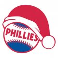 Philadelphia Phillies Baseball Christmas hat decal sticker
