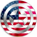 CAPTAIN AMERICA UNITED STATES OF AMERICA Flag decal sticker